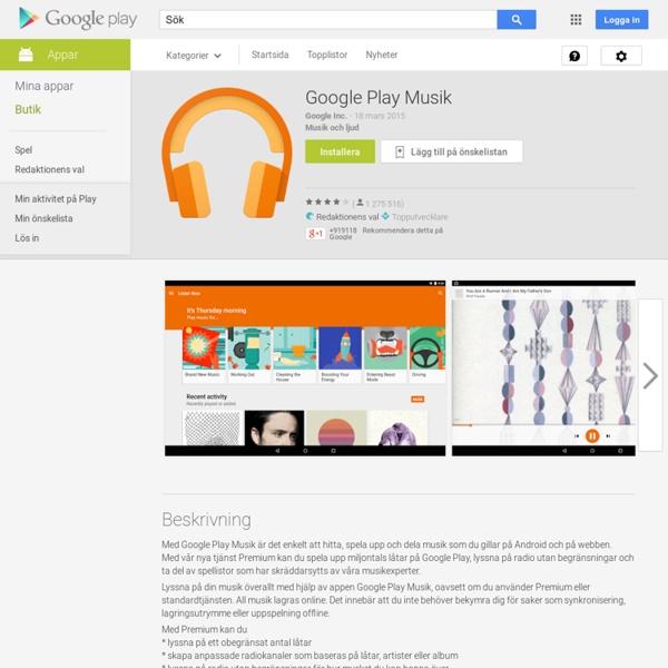 Play Musik – Android-appar på Google Play