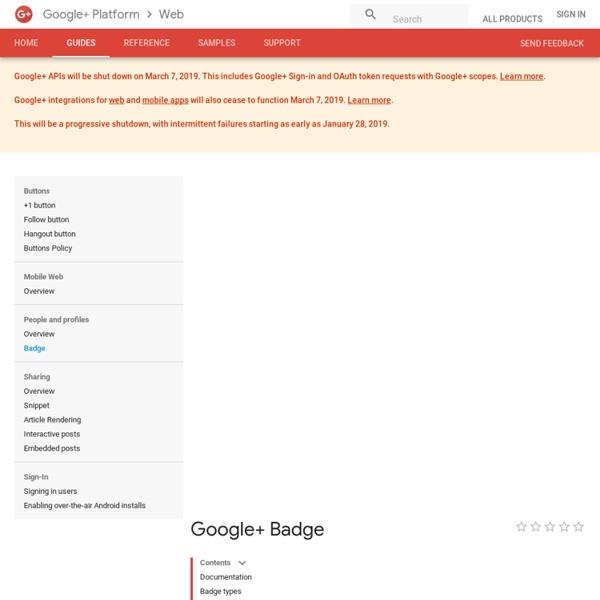 Badge - Google+ Platform
