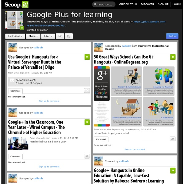 Google Plus for learning