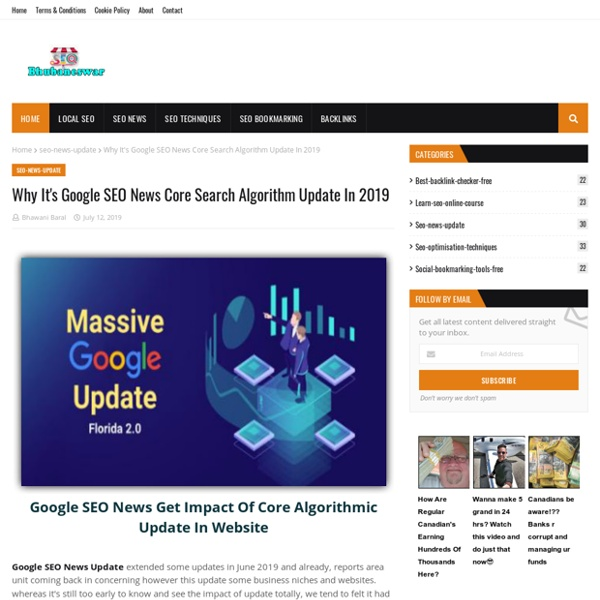 Why It's Google SEO News Core Search Algorithm Update In 2019