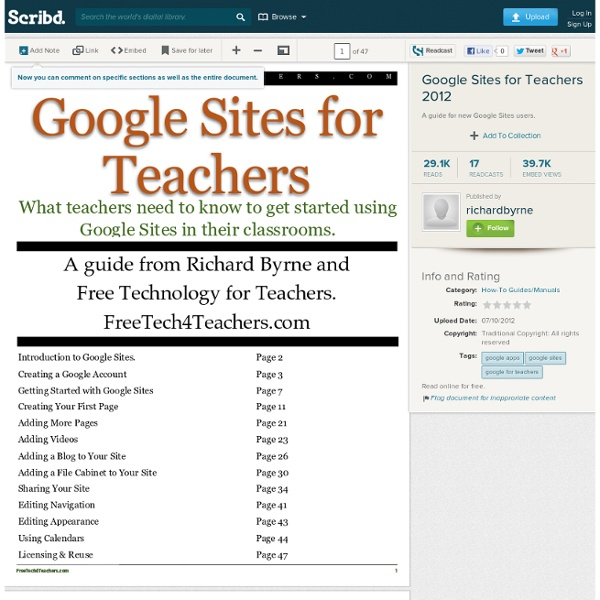 Google Sites for Teachers 2012
