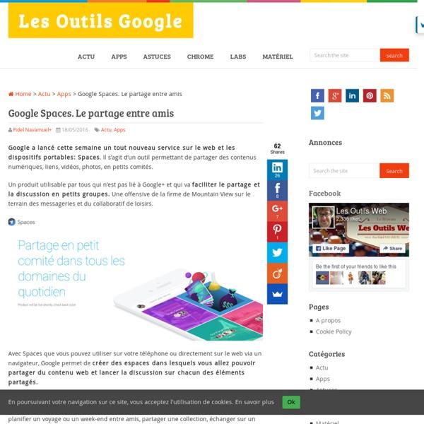 Google Spaces. Le partage entre amis