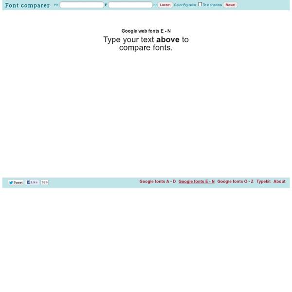 Google Web fonts E - N