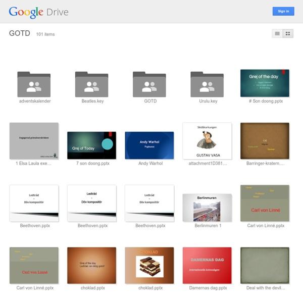 GOTD från google drive..många