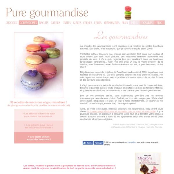 Les gourmandises : macarons et autres douceurs...