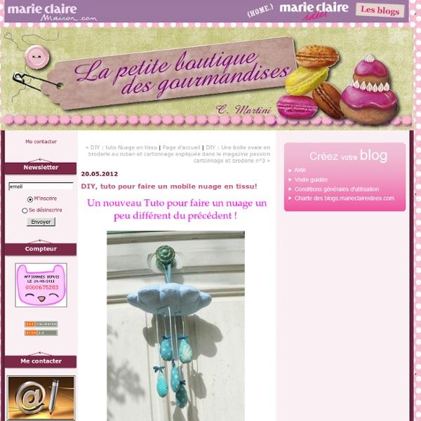 DIY, tuto pour faire un mobile nuage en tissu! : la petite boutique des gourmandises