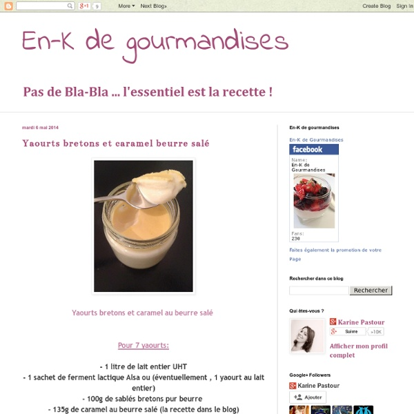 Yaourts bretons et caramel beurre salé