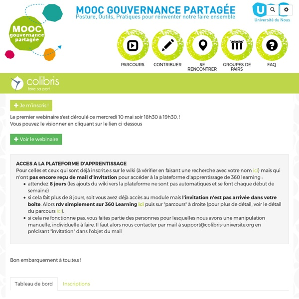 Colibris Mooc Gouvernance : Introduction