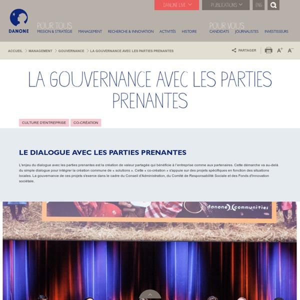 Gouvernance sociale Danone