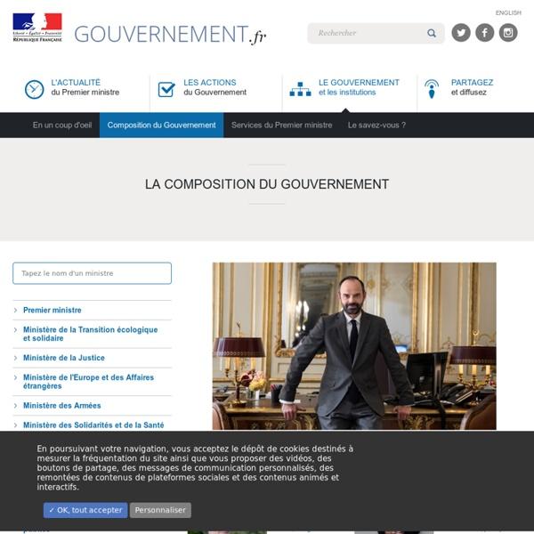 Le Gouvernement et les Institutions