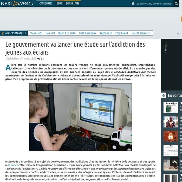 Le gouvernement va lancer une étude sur l'addiction des jeunes aux écrans