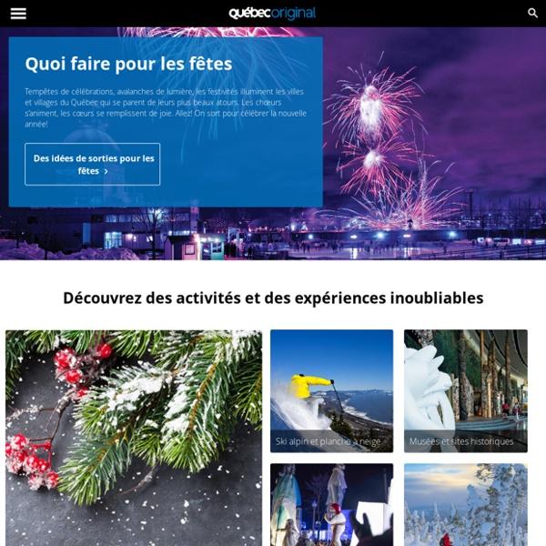 Bonjour Québec.com : Site touristique officiel du gouvernement du Québec