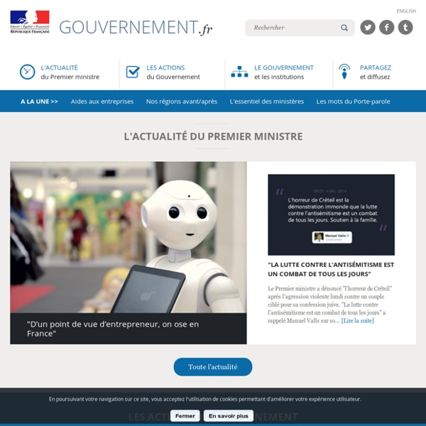 Site officiel du Gouvernement