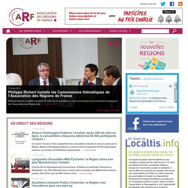 L'ARF – L'association des Régions de France