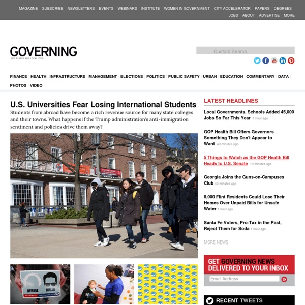 Governing magazine: State and local government news for America's leaders