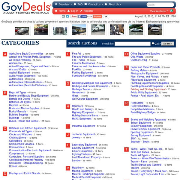 Government Surplus Auctions - GovDeals.com