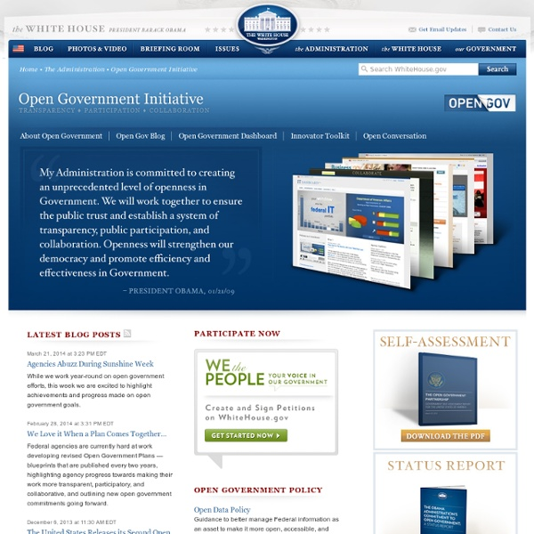 Open Government Initiative