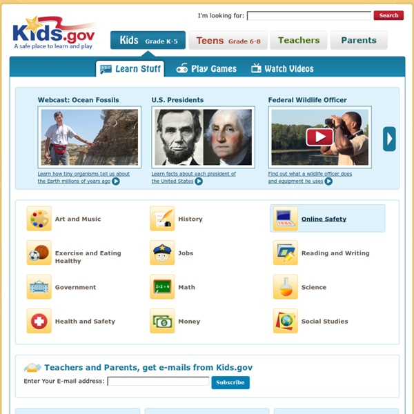 Kids.gov: The U.S. Government's Official Web Portal for Kids
