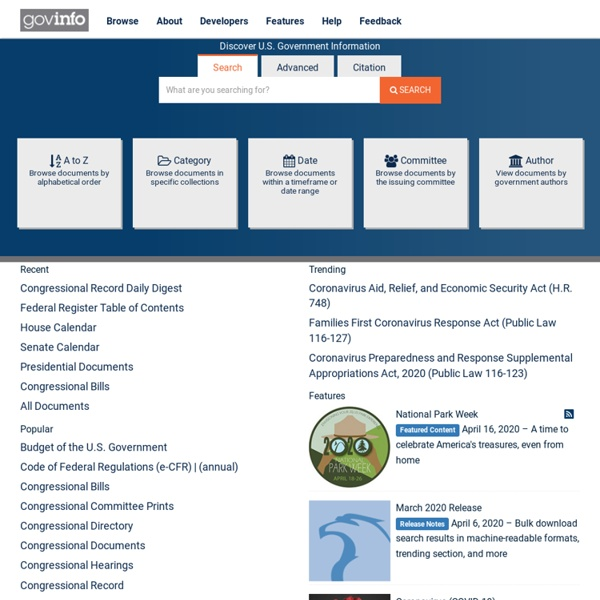 GPO Access Home Page