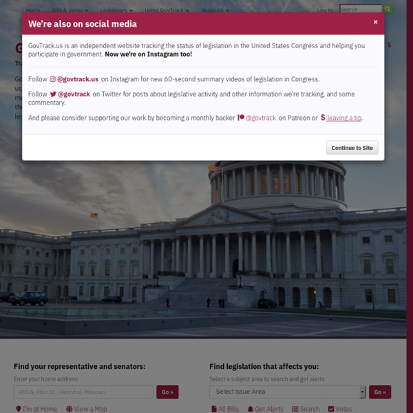 GovTrack.us: Tracking the U.S. Congress