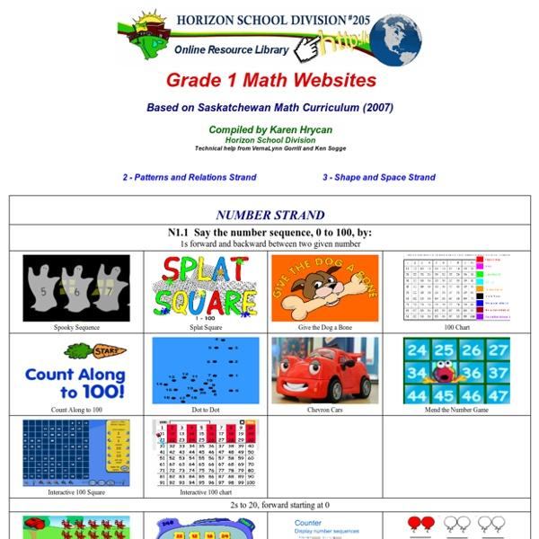 Grade 1 Math Websites