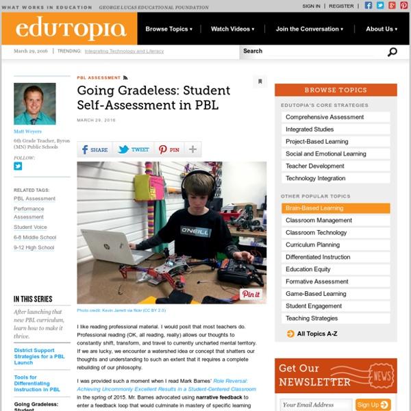 Going Gradeless: Student Self-Assessment in PBL