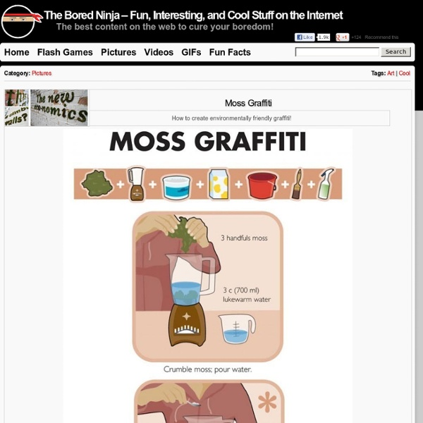 Moss Graffiti « The Bored Ninja - Fun, Interesting, and Cool Stuff on the Internet