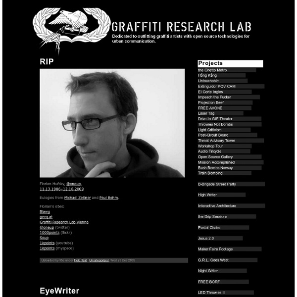 Graffiti Research Lab Archive