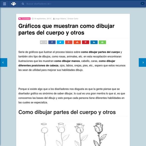 Gráficos que muestran como dibujar partes del cuerpo y otros - Frogx Three