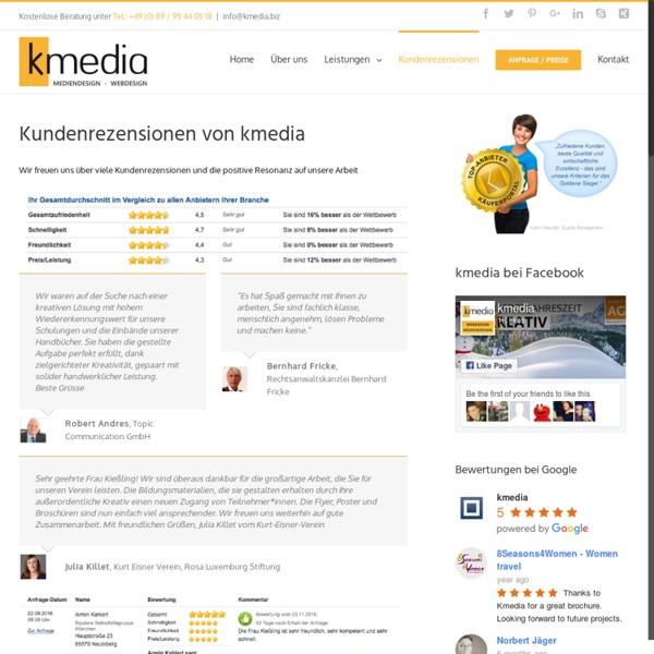Kundenrezensionen der Grafikdesignagentur München