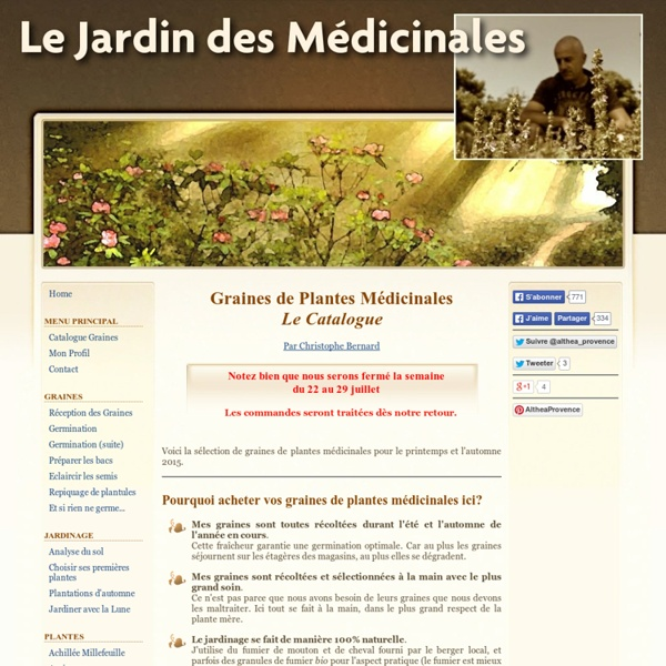 Graines de Plantes Médicinales