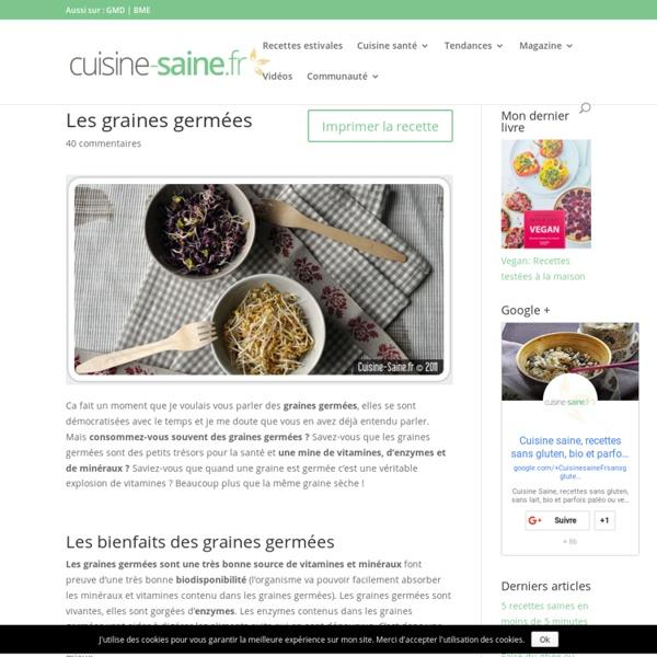 Cuisine bio : les graines germées