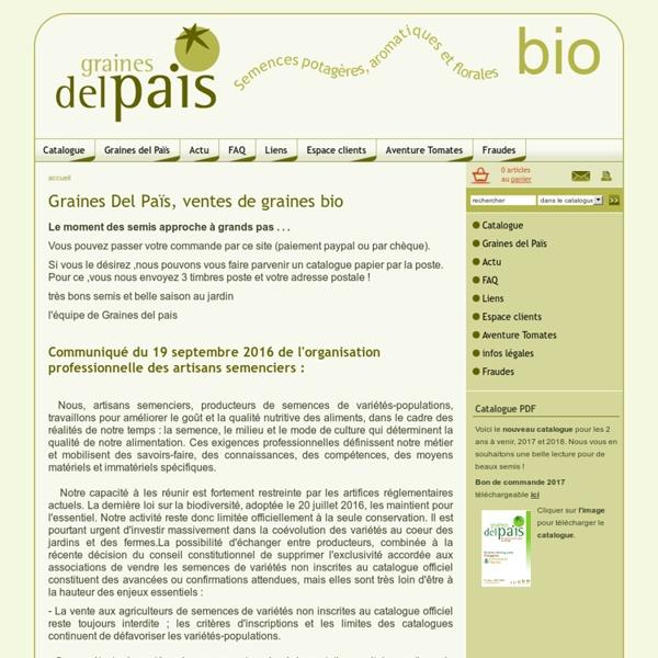 Graines del Païs-ventes de graines bio légumes, fleurs et aromatiques