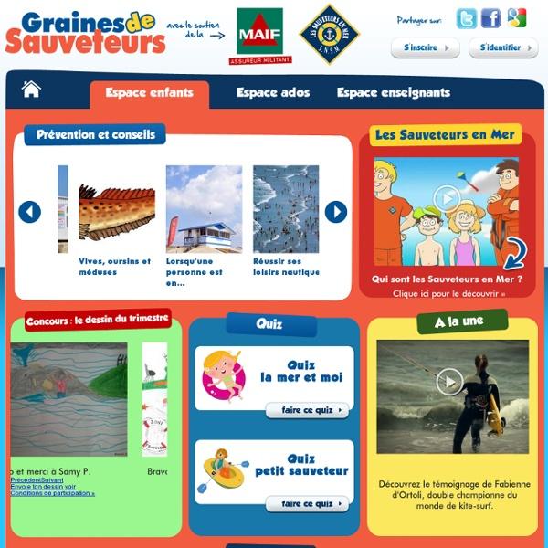 Graines de Sauveteurs : un site pour les jeunes et les enseignants