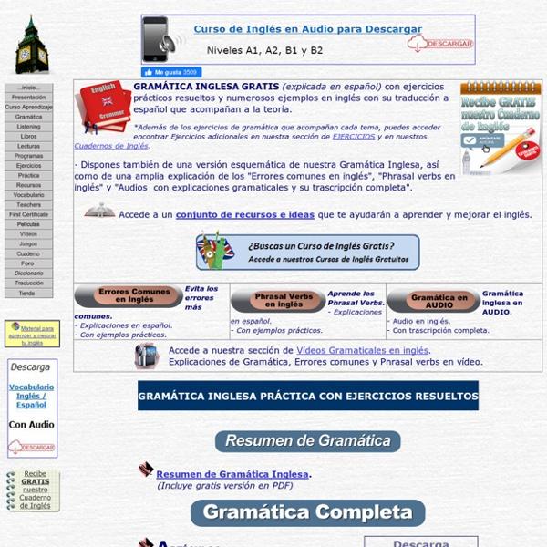 Gramatica inglesa gratis, ejercicios de ingles gratuitos