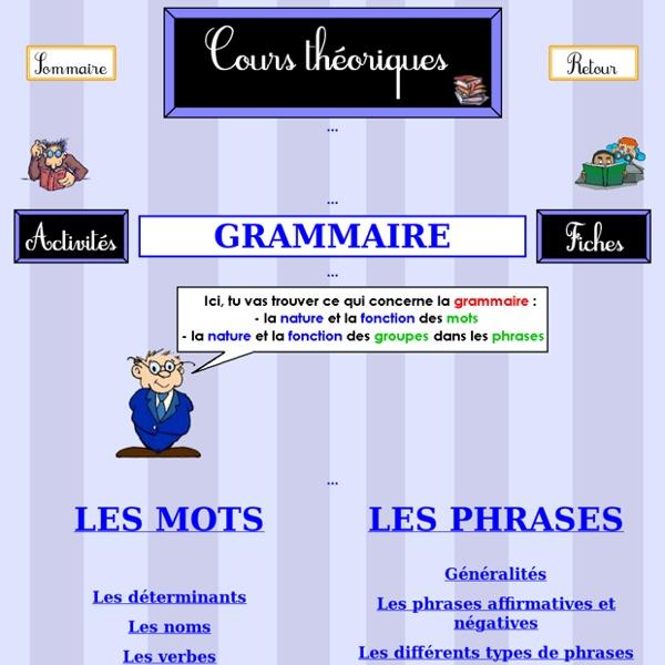 La grammaire pour l'école éléméntaire du CP au CM2