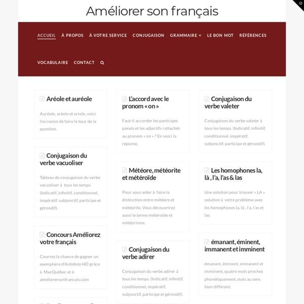 Grammaire française — Améliorer son français