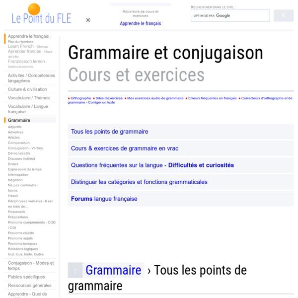 Grammaire - Règles et exercices de grammaire