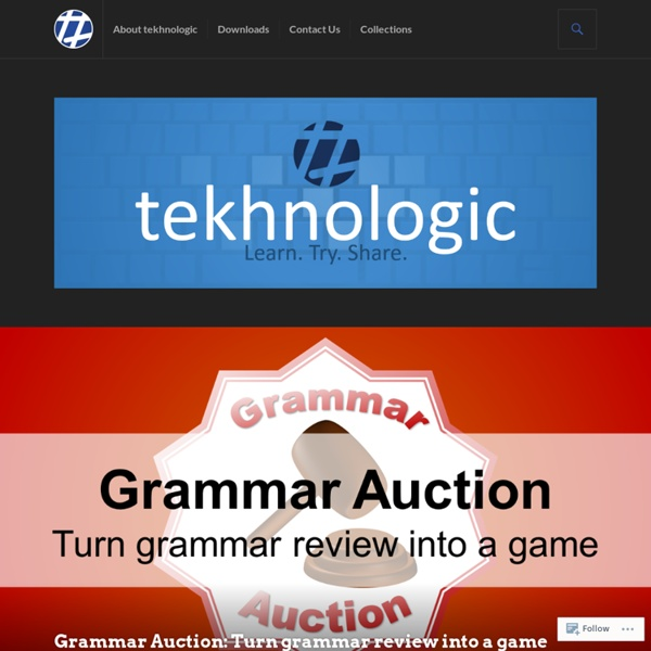 Grammar Auction: Turn grammar review into a game – tekhnologic