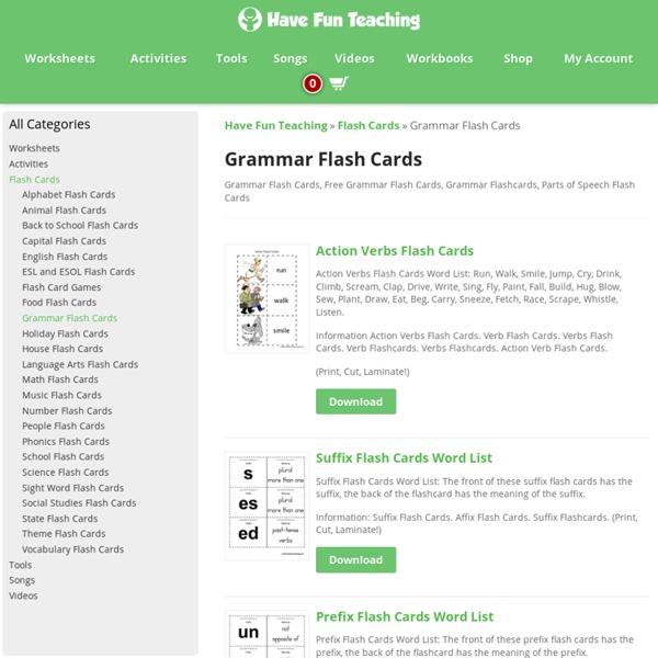 Grammar Flash Cards