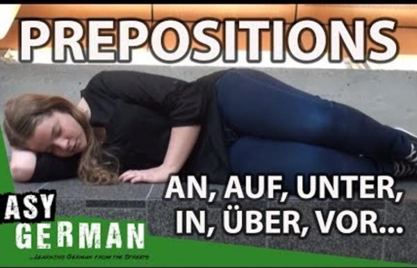 Easy German Grammar - Prepositions: in, an, auf, unter, über, vor...