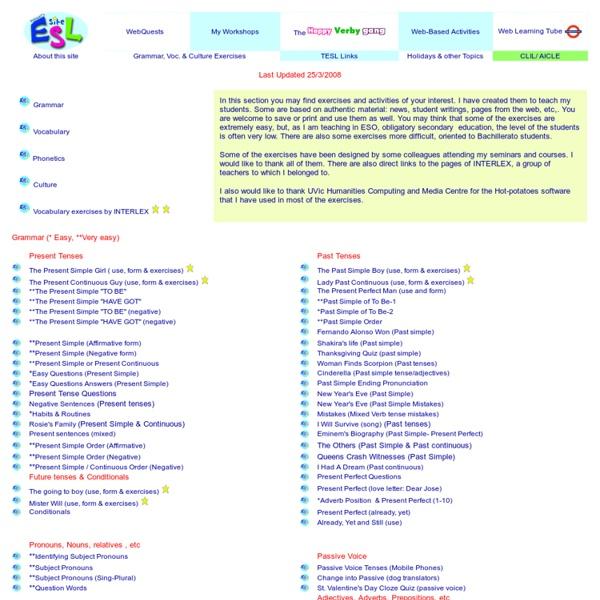Grammar, Vocabulary & Culture quizzes