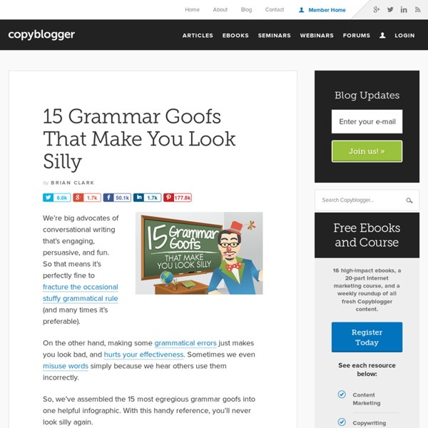 15 Grammatical Errors that Make You Look Silly