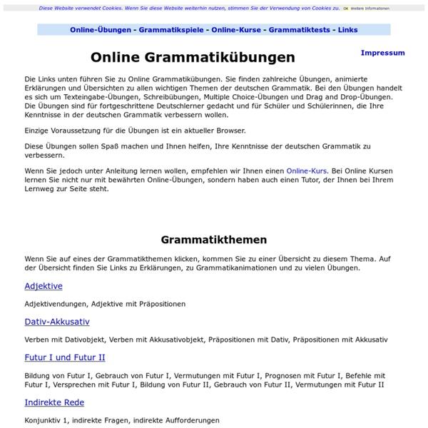 Deutsche Grammatik - Übungen