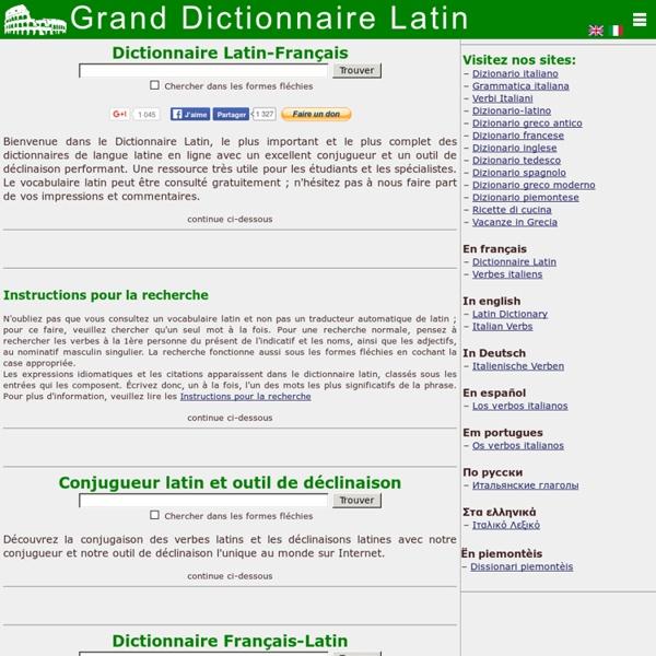 GRAND DICTIONNAIRE LATIN OLIVETTI