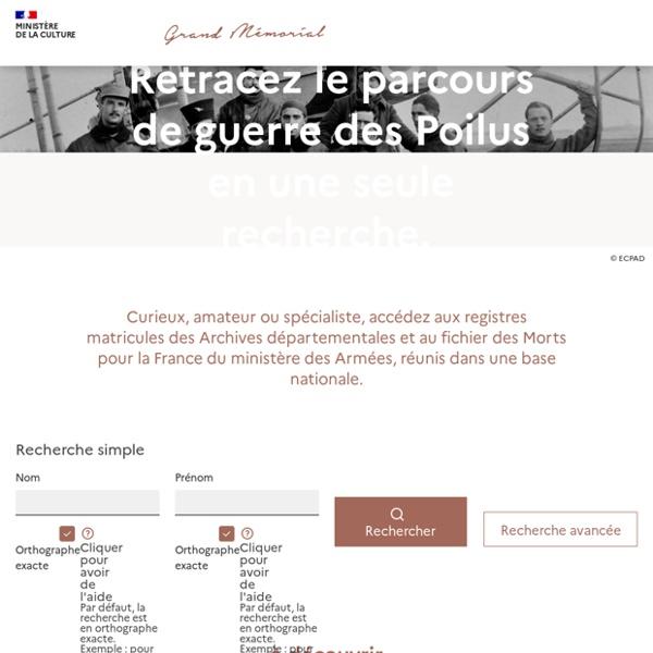 Grand Mémorial / Généalogie