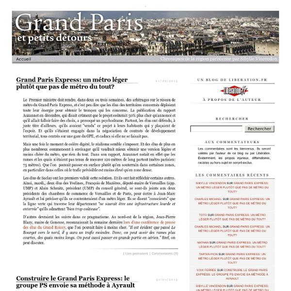 Grand Paris et petits détours