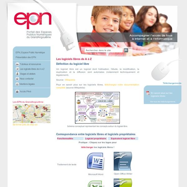 EPN du GrandAngoulême - initiation informatique, accès simplifié, gratuité et tarifs préférentiels, formations et ateliers. > Les logiciels libres de A à Z