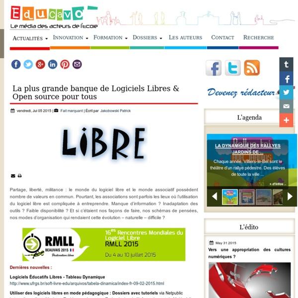 La plus grande banque de Logiciels Libres & Open source pour tous
