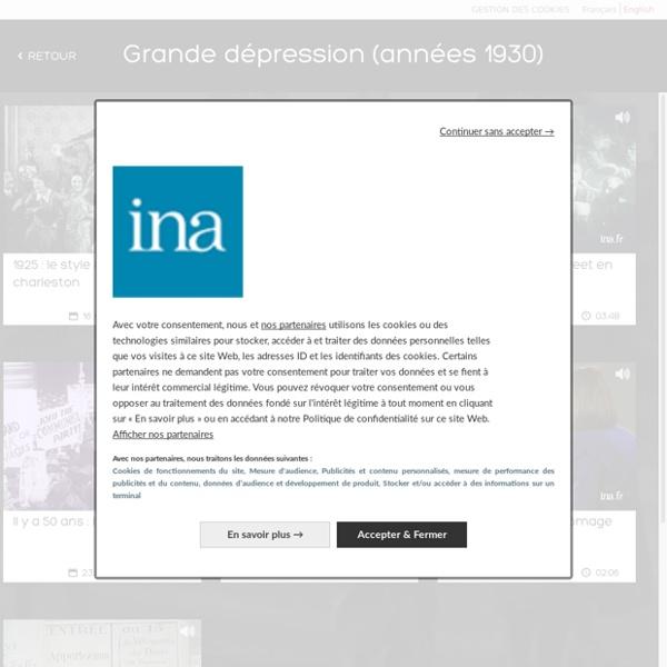 Grande dépression (années 1930) - images de crises
